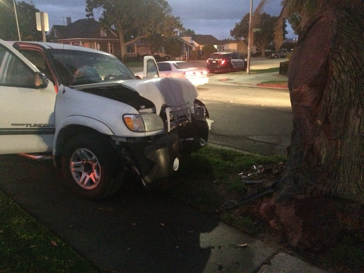 The truck reportedly involved in a crash Nov. 9 in Santa Maria. (Photo: SMPD)