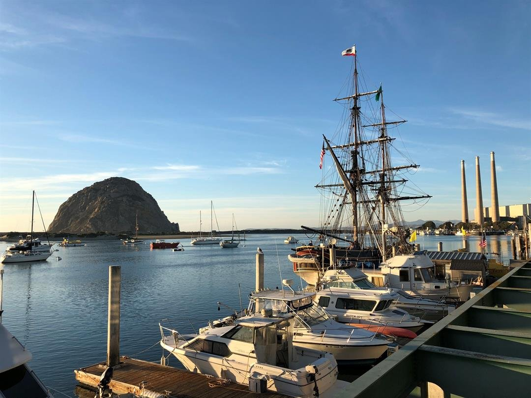 The tall ship Lady Washington is docked at Sub Sea Tours in Morro Bay through Dec. 20. (KSBY photo)