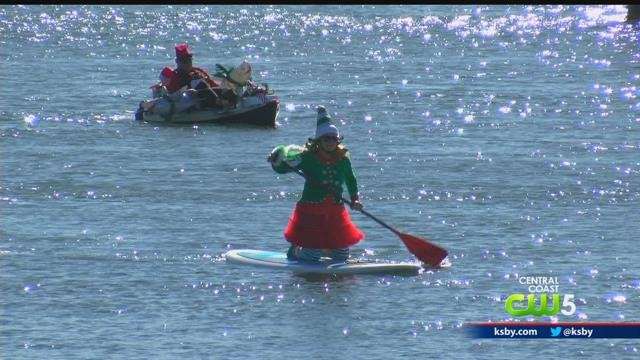 Annual Holiday Paddle Parade held in Morro Bay