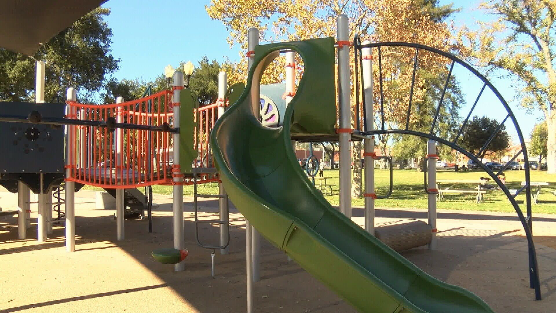Lighting will be installed at the playground in the Paso Robles Downtown City Park. (KSBY photo)