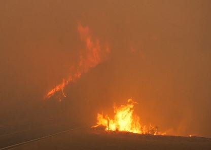 KSBY Photo: Thomas Fire on December 8, 2017