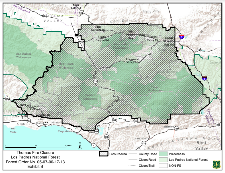 Map courtesy: Los Padres National Forest