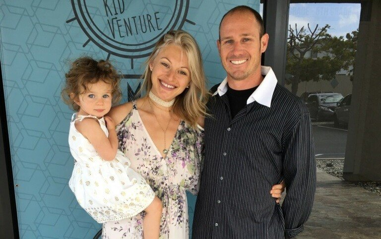 Cory Iverson, his wife and daughter (Photo contributed)