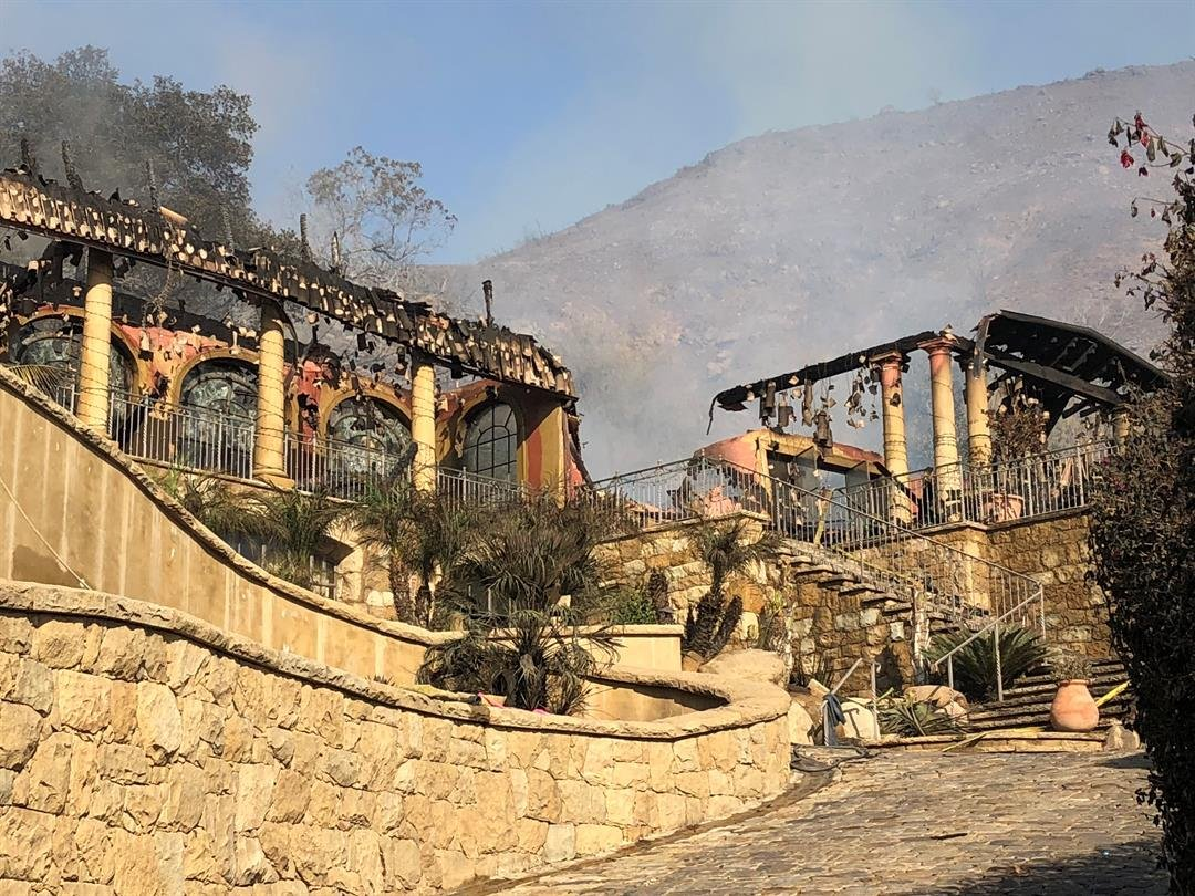 Home suffers major damage from the Thomas Fire(KSBY Photo)