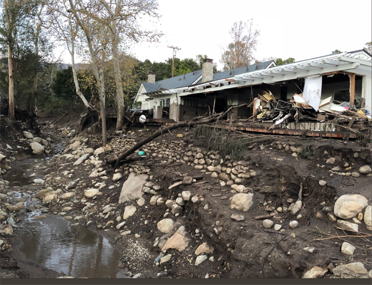 Destroyed home near East Valley Road (Mike Eliason-Santa Barbara County Fire)