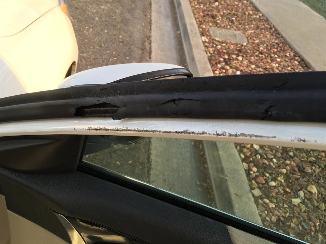 This is damage made to the stolen car. (Credit: Santa Barbara County Sheriff's Office)