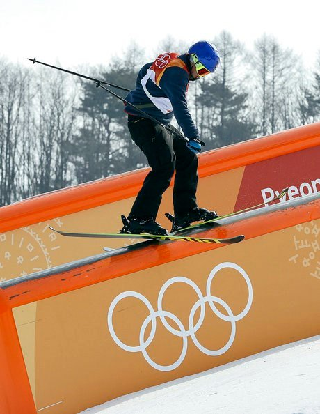 Oystein Braaten, of Norway, runs the course during the men's slopestyle final at Phoenix Snow Park at the 2018 Winter Olympics in Pyeongchang, South Korea, Sunday, Feb. 18, 2018. (AP Photo/Kin Cheung)