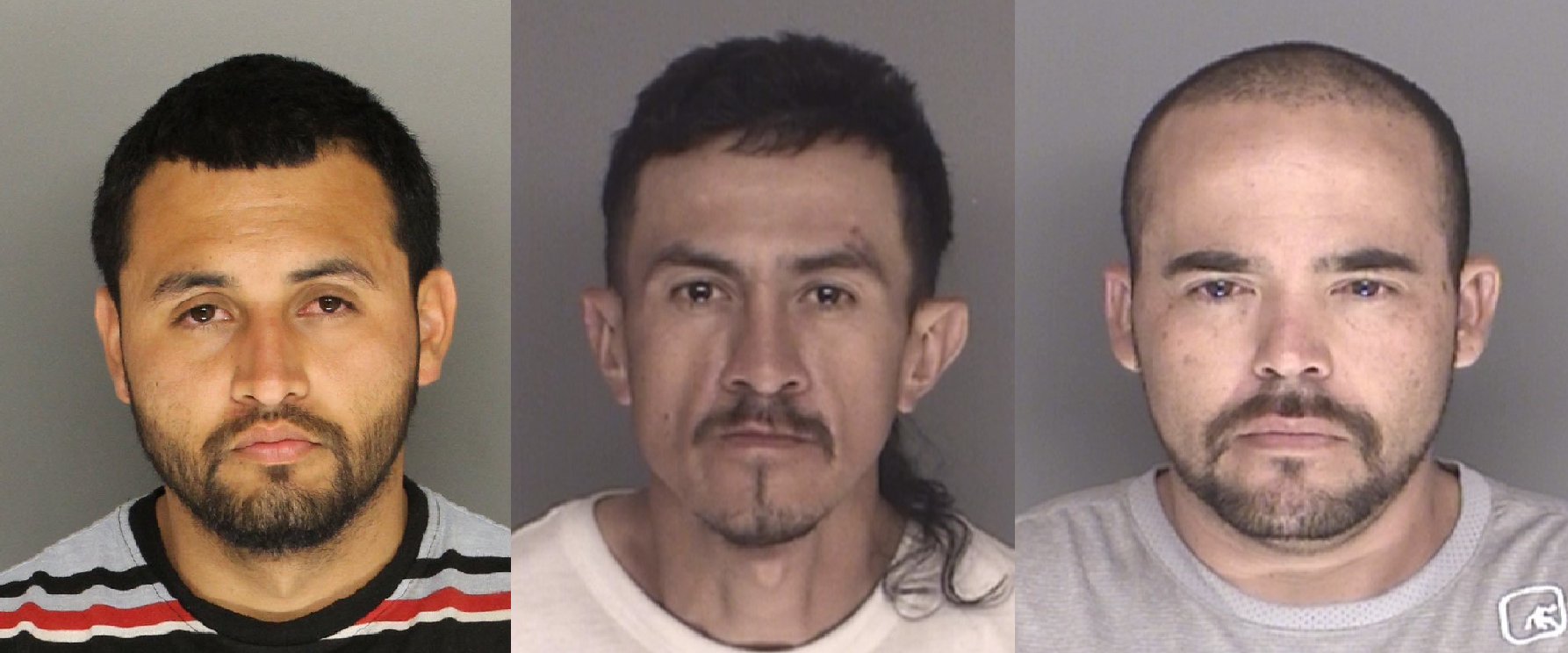 Daniel Vargas, left. Francisco Lozano, middle. Juan Rodriguez, right.