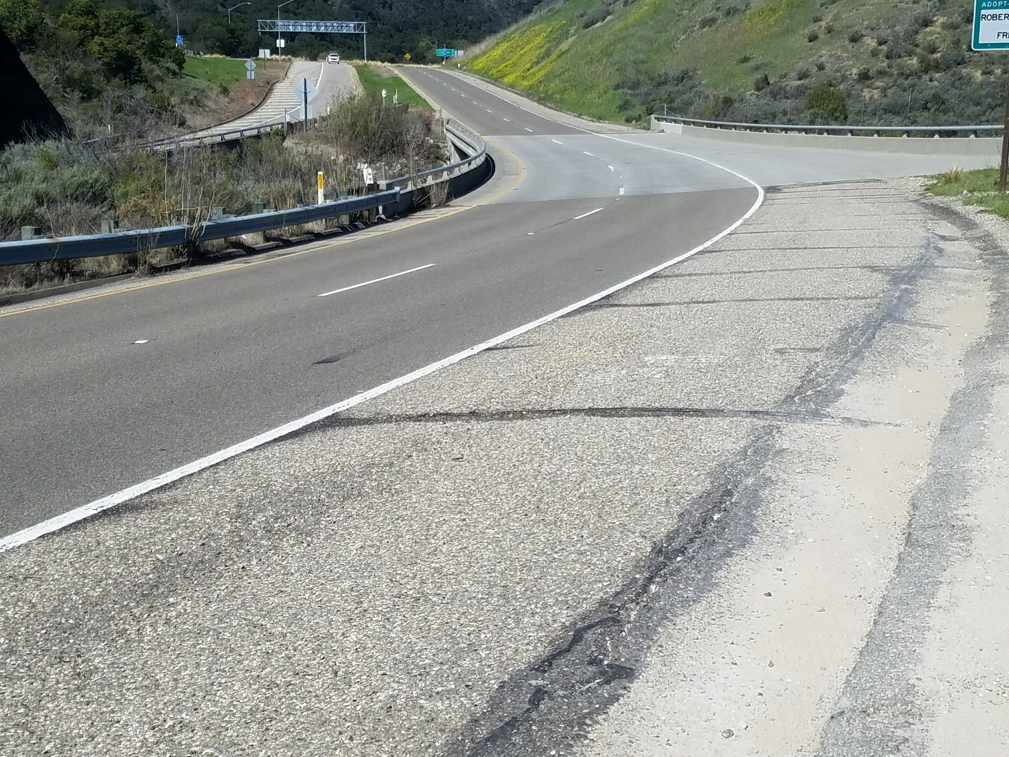 Portion of Highway 1 to be repaved. (Photo courtesy Caltrans)