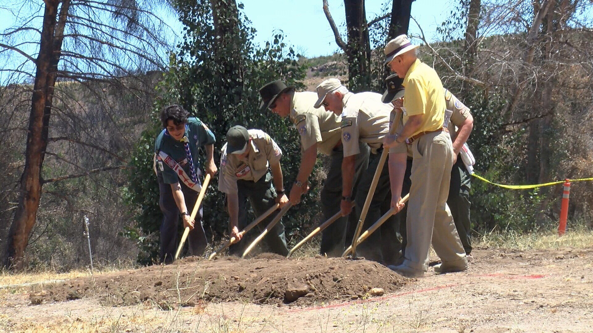 Scout leaders broke ground Saturday on the redevelopment of the camp (KSBY)