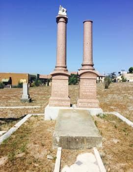 Price family gravesite, St. Patrick's Cemetery, Arroyo Grande (KSBY)