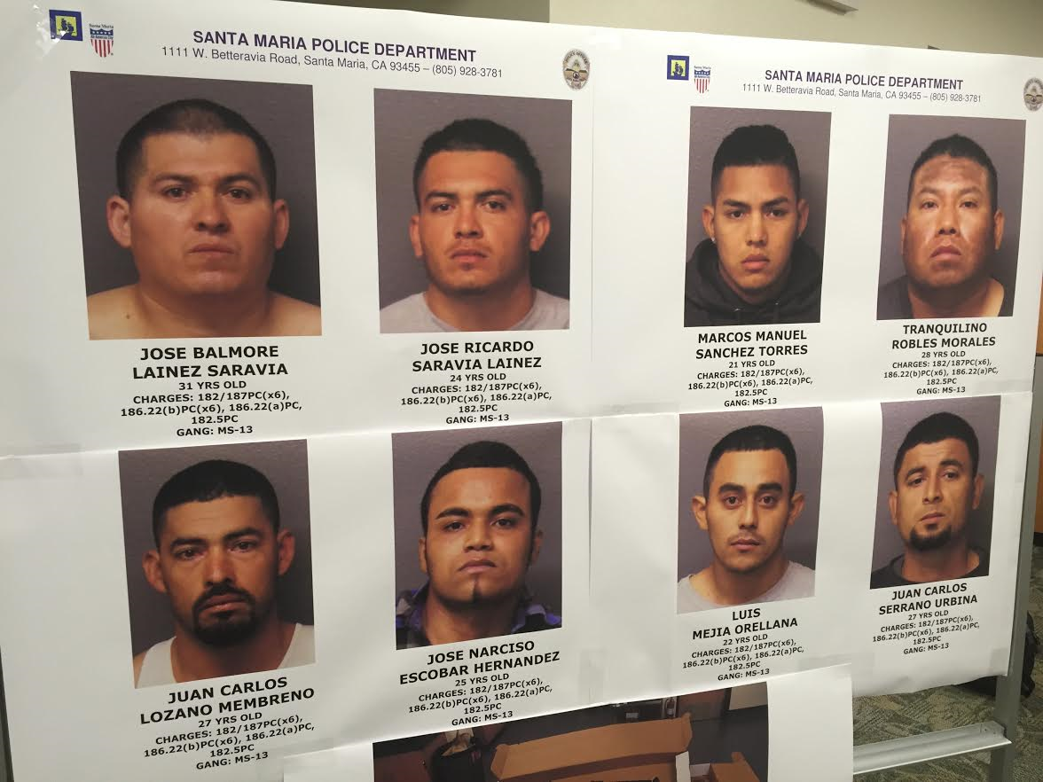 Alleged MS 13 gang members appear in Santa Maria court KSBY