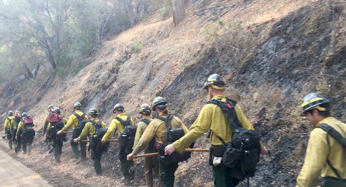 Fire crews from across the country work to tame Rey Fire