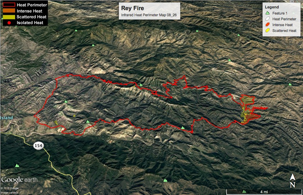 Firefighters expect to have the Rey Fire fully contained by August 31. (Los Padres