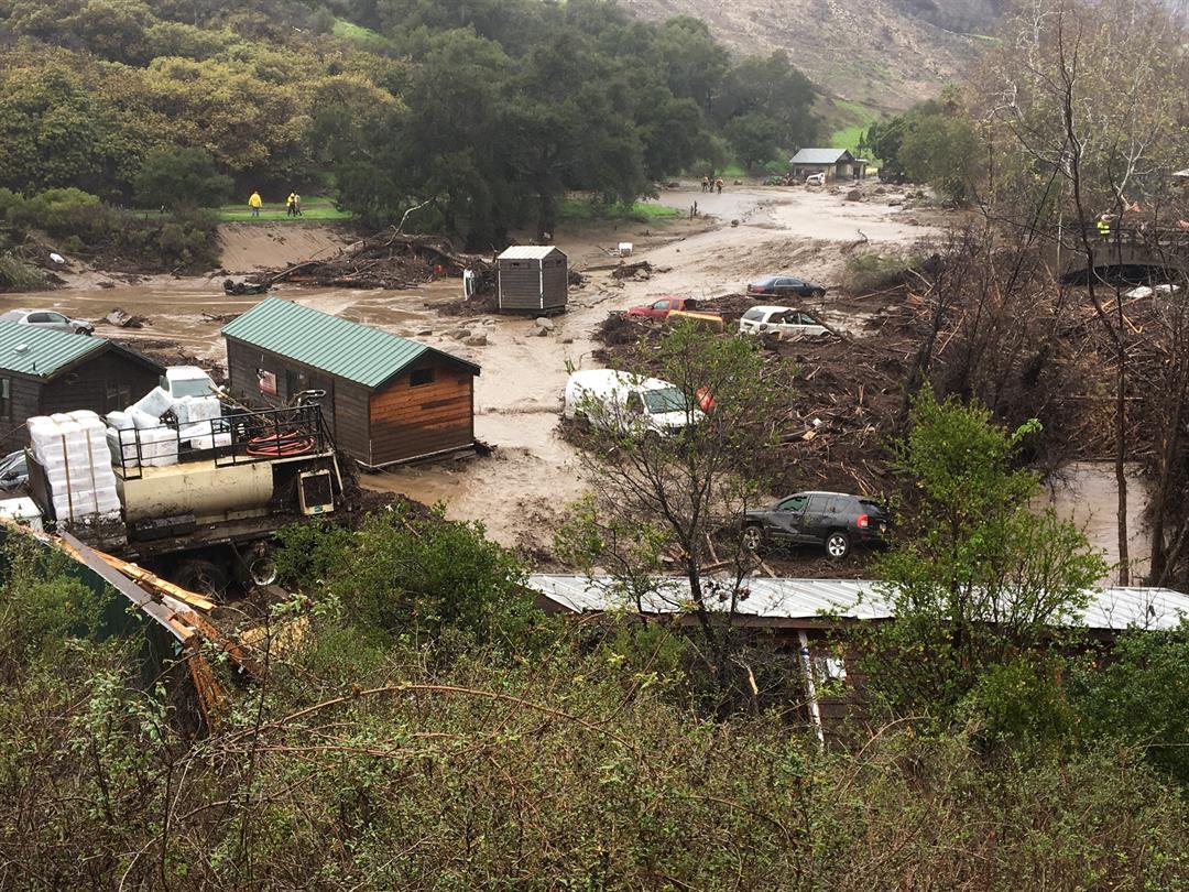 Flash flood sweeps through El Capitan Canyon Campground - KSBY.com ...