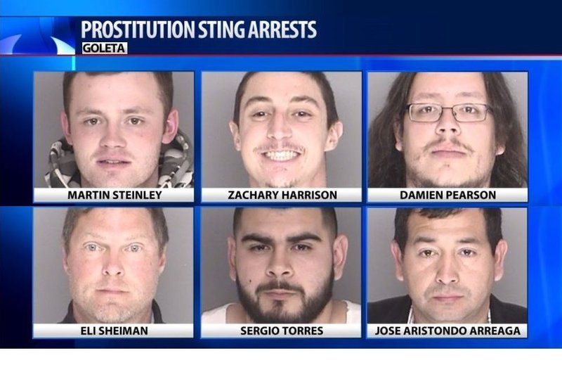 6 local men among 474 arrested in statewide human trafficking ca - KSBY.com    San Luis Obispo and Santa Barbara Area News