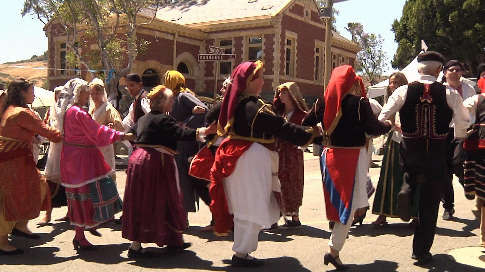 Madonna fashion show san luis obispo - Dancers At The 2016 San Luis Obispo Greek Festival Ksby Photo