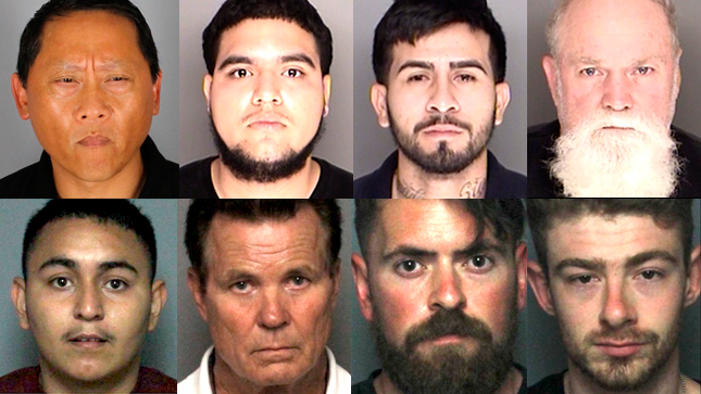 Santa Barbara County Sheriff's detectives arrested 8 local men, ranging in  age from 20-