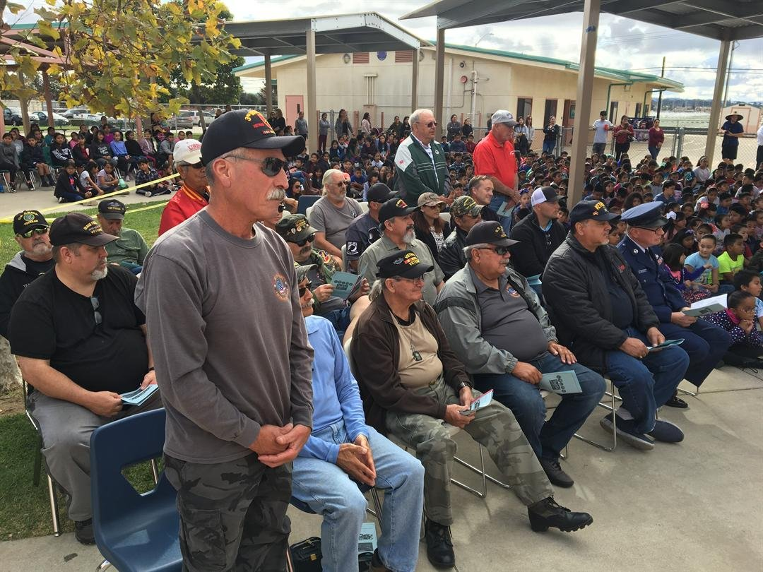 Local veterans are honored during Sanchez Elementary School's Veterans Day celebration
