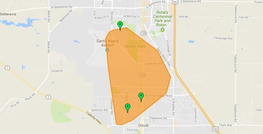 UPDATE PGE restores power in Santa Maria after large outage KSBY