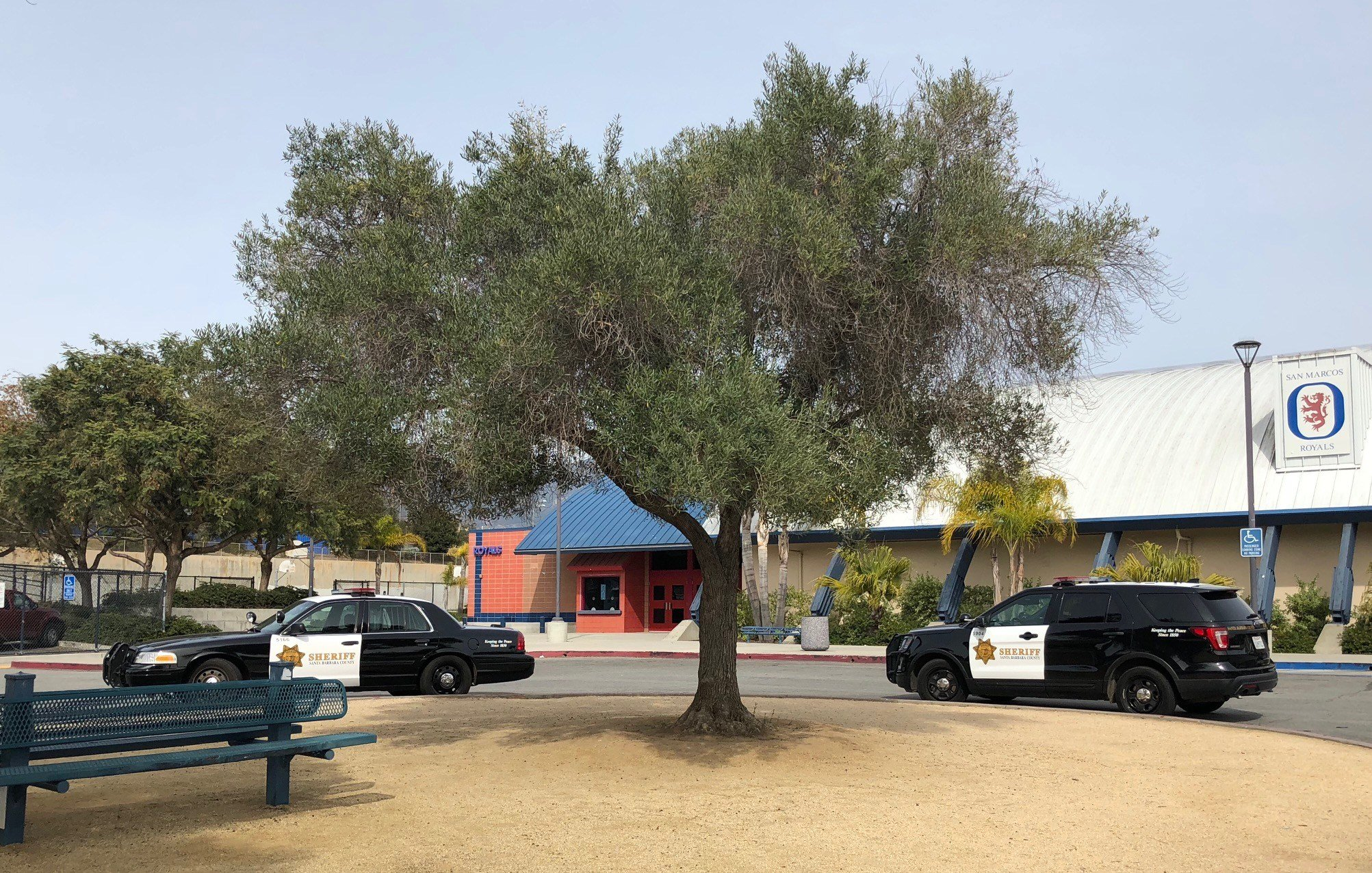 Threatening graffiti found Friday at San Marcos High School - KSBY ...