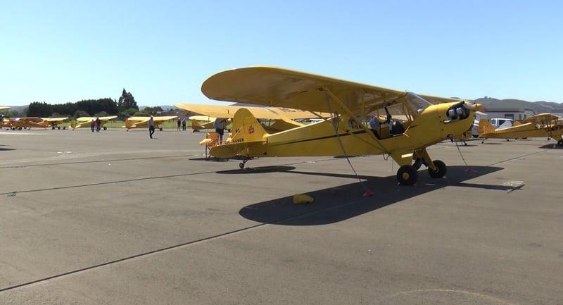 Goleta Air and Space Museum: Visitors at Santa Barbara