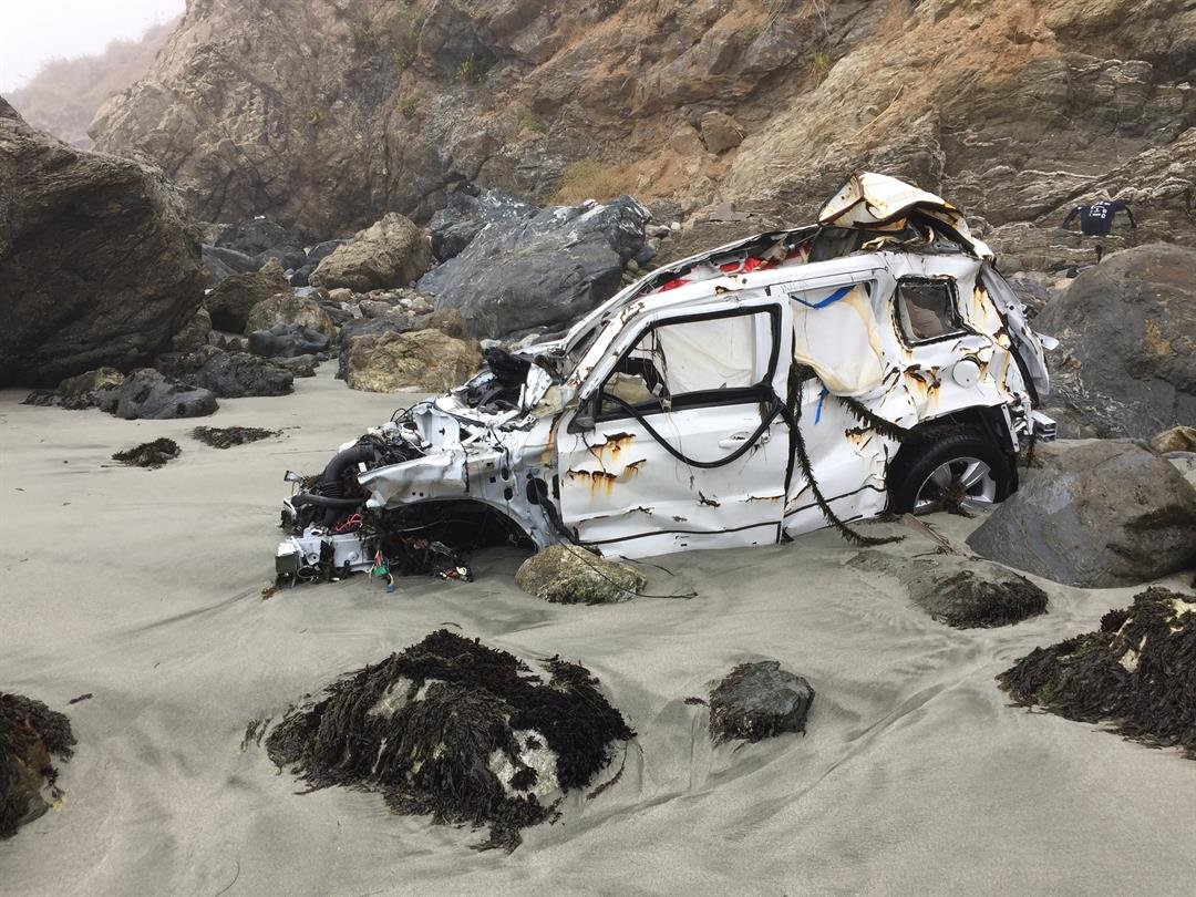 Woman found alive week after driving off cliff near Big Sur