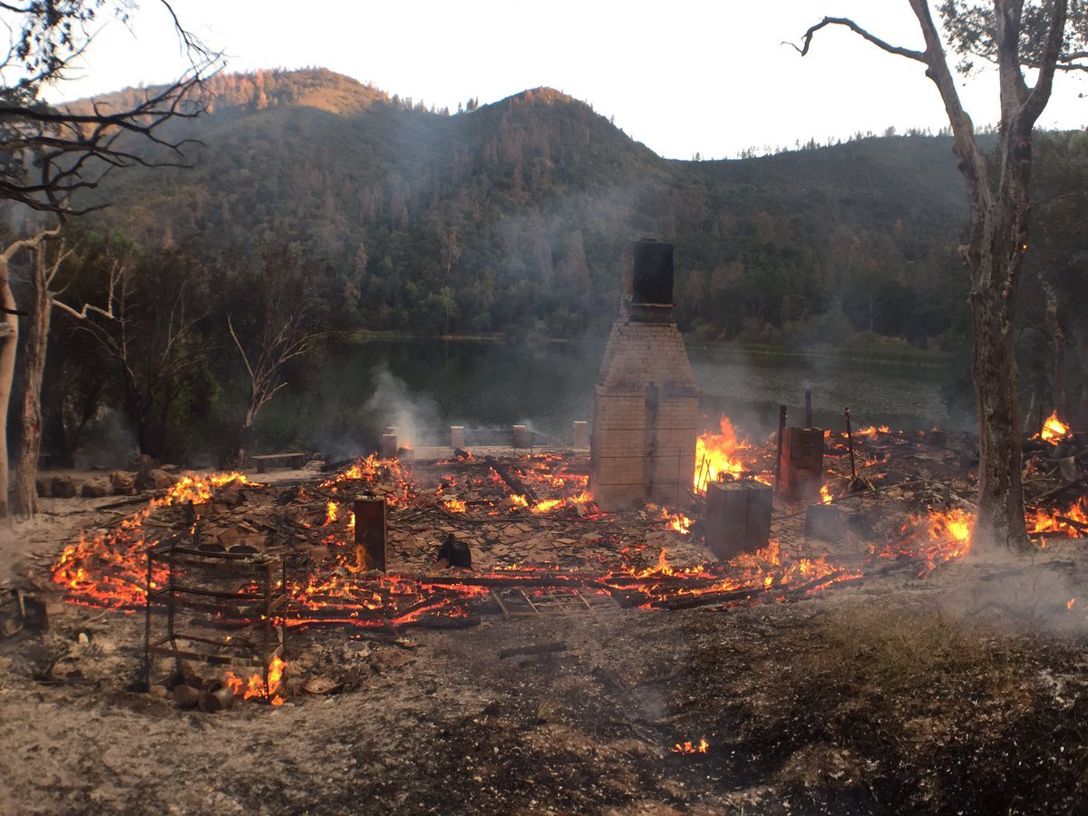 UPDATE: Cabin destroyed in fire at Zaca Lake near Los Olivos - KSBY.com